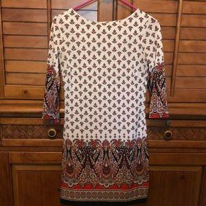 Atmosphere 3/4 Slv Paisley Dress Size S